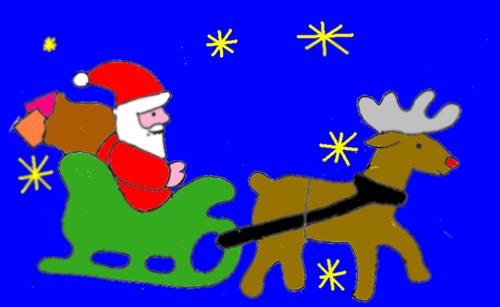Immagini Di Babbo Natale Con La Slitta E Le Renne.La Storia Della Renna Rudolph La Rete In Rosa