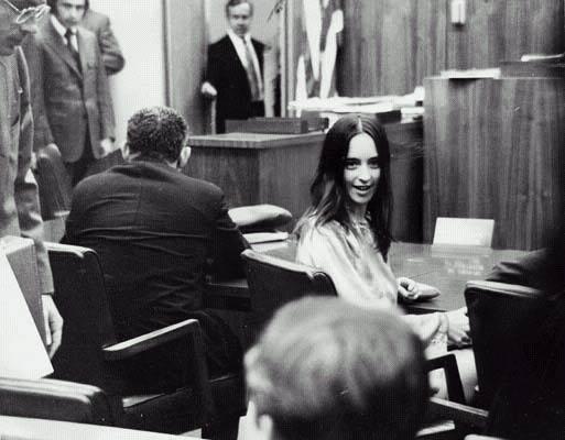 Susan Atkins, la feroce assassina di Sharon Tate, seguace di Manson.